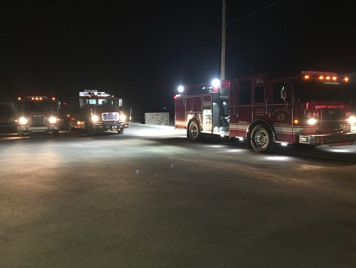 Eddy County volunteer fire departments staged at the