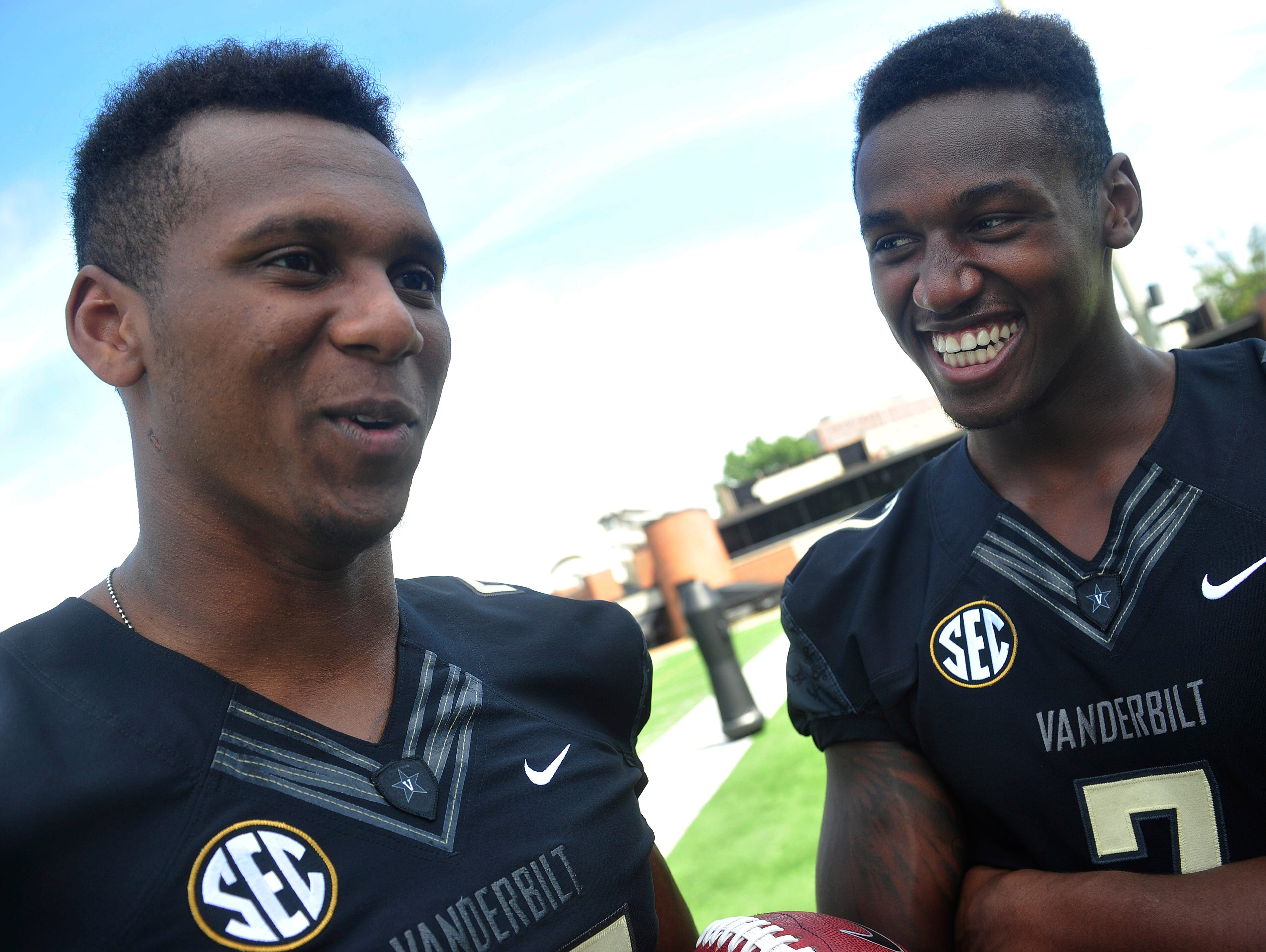 Brothers Josh Smith, left, and Emmanuel Smith talk about growing up in Murfreesboro, playing at Oakland High School and winding up together at Vanderbilt.
