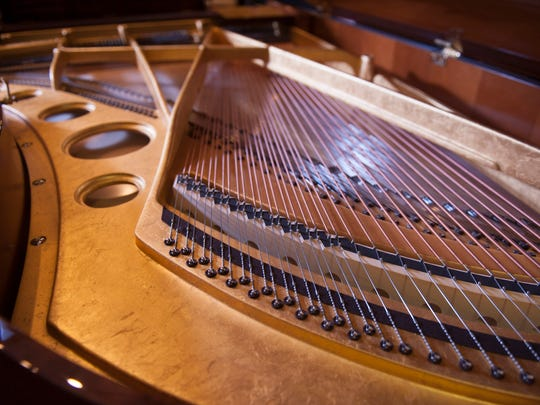 An inside view of a rare instrument. Cunningham Piano Company in Germantown, co-owned by South Jersey resident Rich Galassini, is the temporary home for a rare Bosendorfer Opus No. 50.000 piano valued at $750,000 that will be shared with the public via a variety of concerts in January.