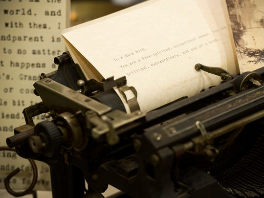 A typewriter sits on display at Rare Bird Uncommon Gifts in Evansville.