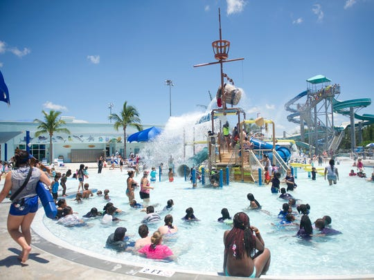 Kids cool off at Sailfish Splash Waterpark in this 2017 photo.