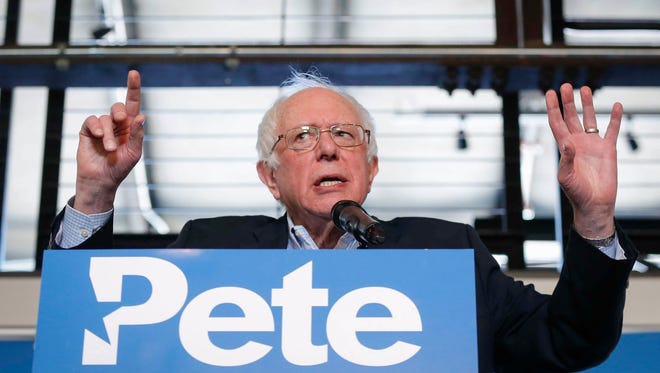 Former Democratic presidential candidate Bernie Sanders visited Des Moines to campaign on behalf of congressional candidate Pete D'Alessandro on Friday, Feb., 23, 2018, at Curate in Des Moines.