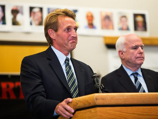 Image result for john mccain jeff flake
