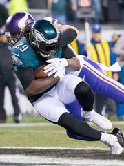 LeGarrette Blount had 766 yards rushing last season for the Eagles.