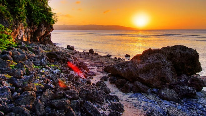This scenic shot of a Tamuning Sunset shot at Rick's Reef, is one of several prints that  delegate Victor Consaga plans to display at FestPac 2016. Consaga is the chairman of the Photography committee, which is a sub-discipline under Visual Arts.