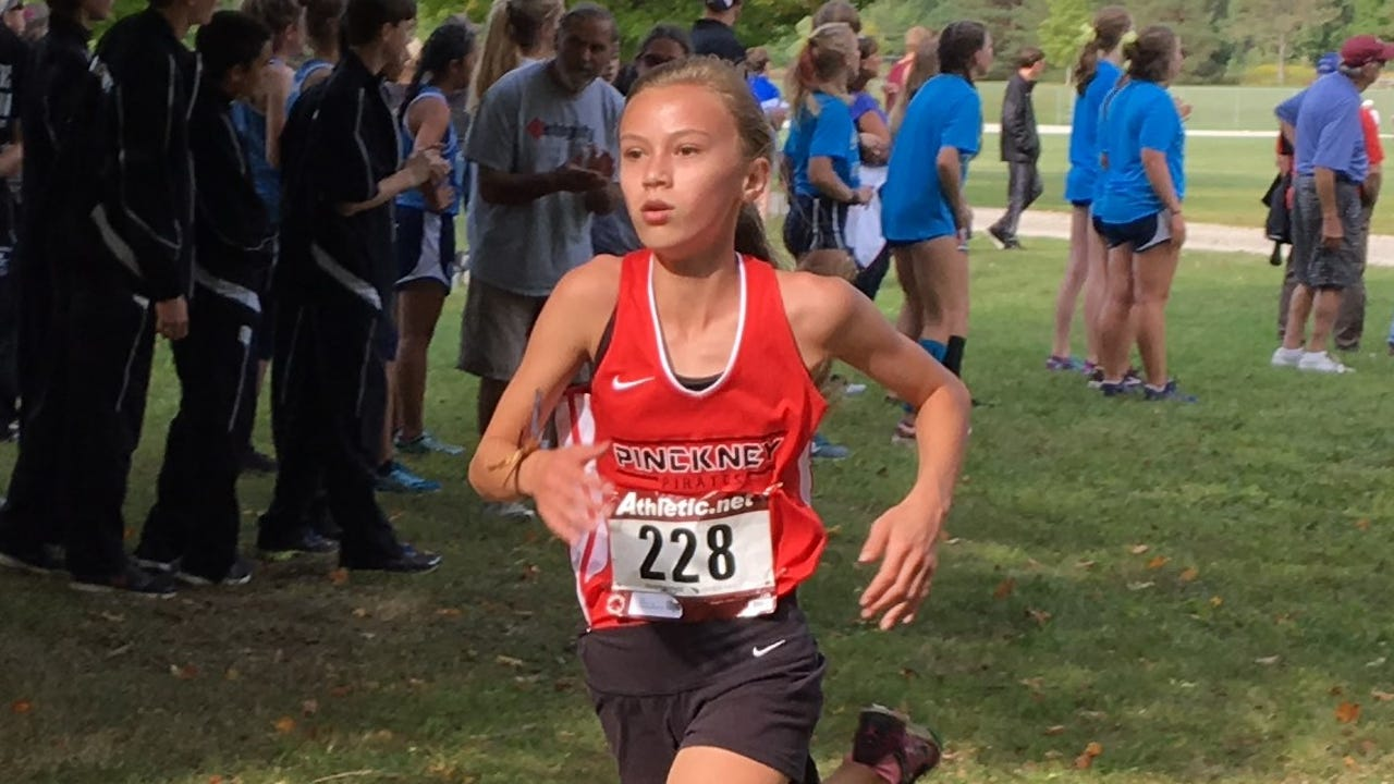 Pinckney freshman Vivi Eddings talks about how she was able to succeed in her first season of high school cross country.