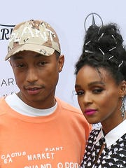 Pharell Williams and Janelle Monae attend the Variety Awards at the Parker during the Palm Springs International Film Festival, January 3, 2017.