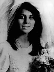 Angela Borzillary, in her wedding photo in 1969.