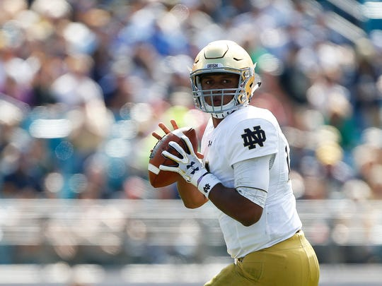 Notre Dame's DeShone Kizer is rated among the top QBs in this year's draft.