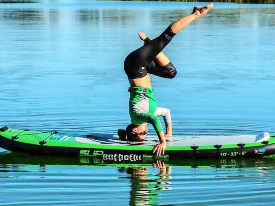 Yoga on paddleboards is one of many outdoor options