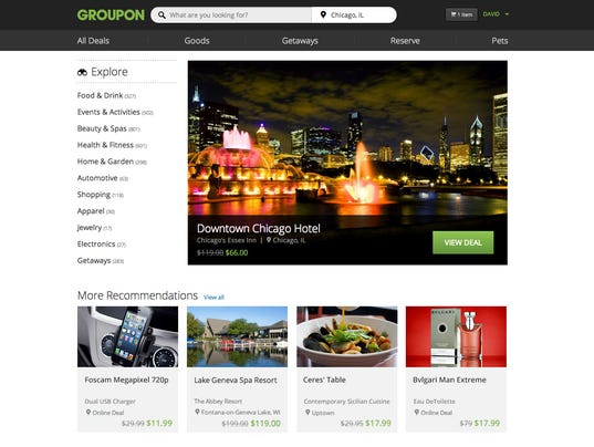 Groupon Home Page
