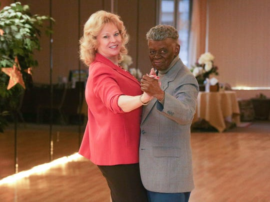 John Mance Calloway and Jean Nichols, owner of LeDanse Ballroom Studio, dance to a slow waltz on Jan. 6, 2016. Nearly 100 years old, Calloway recently had to cut back on his dancing.