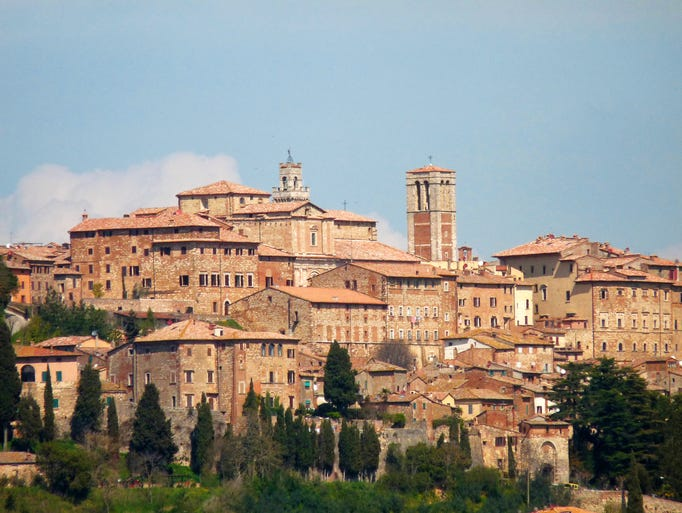 Montepulciano, a small town in the Tuscan province