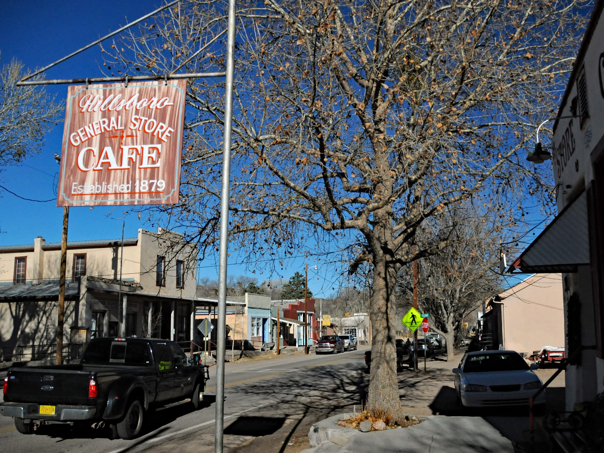 A view of the main street through Hillsboro, state