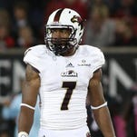 """Lane was a four-year starter for ULM at """"hawk"""" safety and a first-team All-Sun Belt selection."""