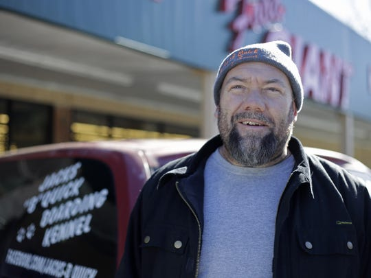 Travis Hallman, owner of Jack B. Quick's pet resort, voted for Donald Trump because he is hopeful that a Trump presidency will bring change. But he's not holding his breath.