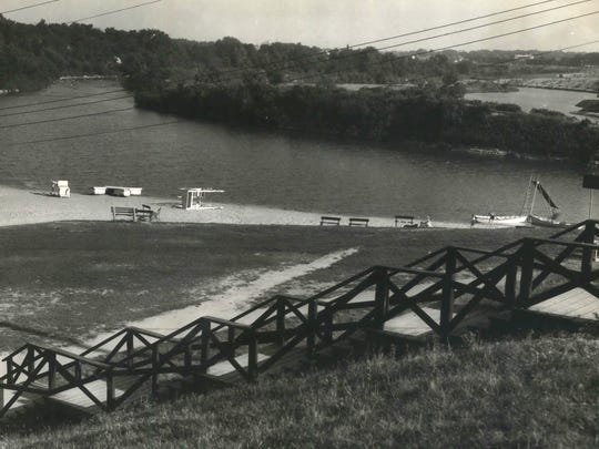 In August 1935, the Estabrook Park swimming area in the Milwaukee River was closed for the rest of the summer because the water was too polluted.