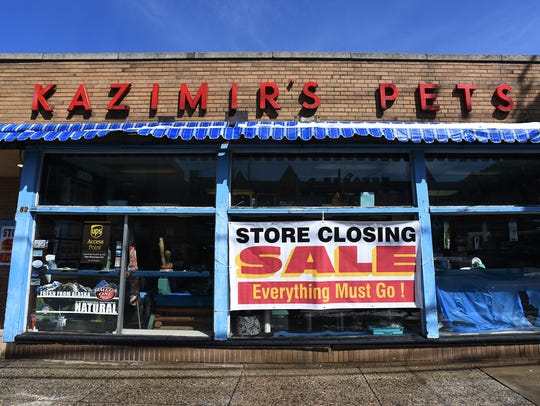 Kazimir's Pet Shop in Hackensack, seen on March 22,