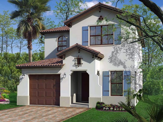 The 2,635-square-foot Encinitas floor plan at Fronterra has four bedrooms and 3.5 baths.