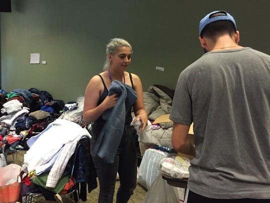 Purchase College students donate clothing and other