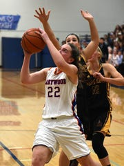 Abbey Reppen puts up a shot as Ladywood hosts Mercy