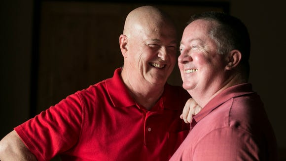 Terry Pochert (left) and his husband, Joe Connolly,
