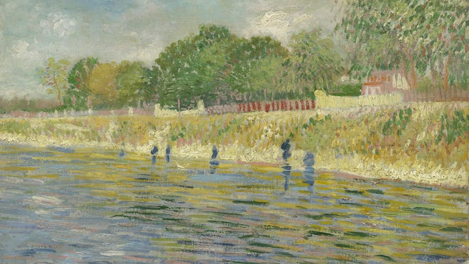 Vincent van Gogh, The Banks of the Seine, 1887, oil on canvas. Van Gogh Museum, Amsterdam, The Netherlands