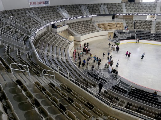 The Indiana State Fairgrounds Coliseum reopened April 24 after a historic $63 million renovation.