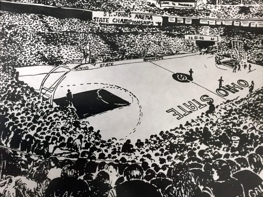 Former Lancaster boys basketball coach Jack Greathouse had a drawing of St. Jon Arena printed up before the season that he sent to each player. It became reality when the Golden Gales made the 1991 Final Four.