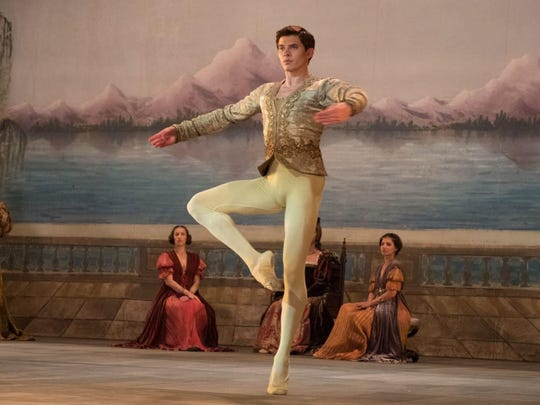 "Oleg Ivenko as Rudolf Nureyev in ""The White Crow."""