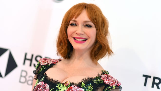 Knoxville-born actress and famous redhead Christina Hendricks attends the 'Egg' screening during 2018 Tribeca Film Festival on April 21, 2018 in New York.