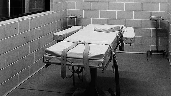 The execution room at Arizona state prison.