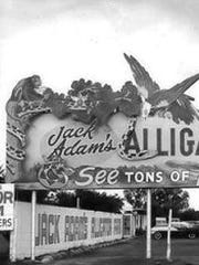 Jack Adams' Alligator Farm opened in the early 1950s