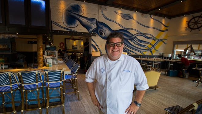 Chef Jamie DeRosa of Izzy's Fish & Oyster. The restaurant opens to the public Wednesday.