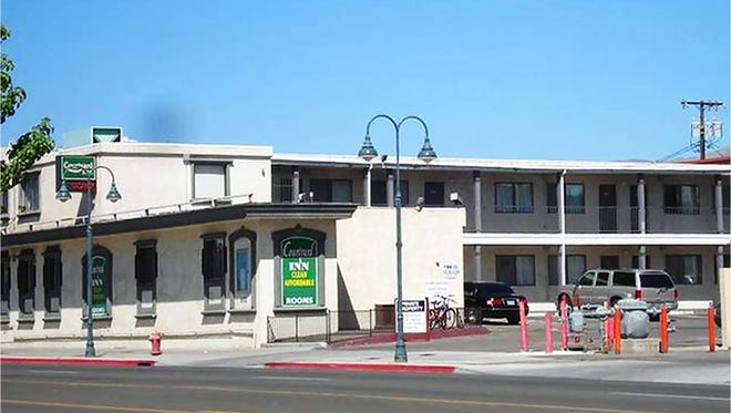 The Courtyard Inn in downtown Reno. The property was purchased by Jacobs Entertainment in October 2017 as part of the Fountain District project.