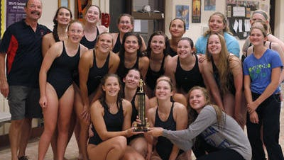 The St. Johns girls swimming and diving team is currently sitting atop the CAAC Blue conference.