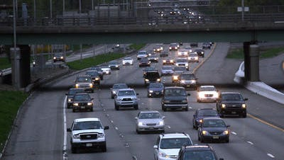 Traffic on Route 80 in Parsippany. Many people are expected to drive out of Morris County for the holiday weekend.