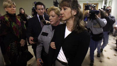 Cheryl McCafferty was released from prison Wednesday. She was pardoned along with 196 others by former Gov. Steve Beshear.