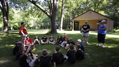 Cub Scouts enjoy a day at Camp Kiwanis in June 2009.