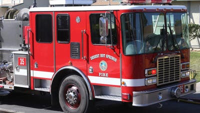 Desert Hot Springs firefighters responded to an apartment fire early Friday morning.