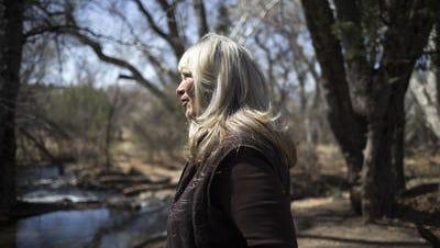 A portrait of Irene Rezzonico (landowner) at Wingfield #1 Ditch, March 6, 2018, near Camp Verde, Arizona.