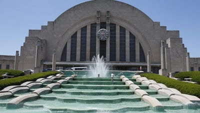 Union Terminal in Queensgate houses the Cincinnati Museum Center. The terminal opened in 1933.