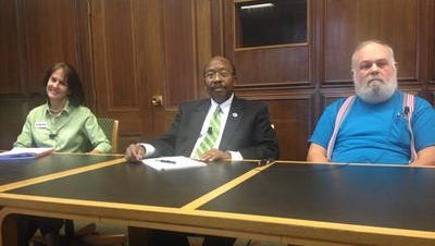 Candidates for City Commission Seat 2 at Tallahassee Democrat/Tallahassee.com editorial board meeting. Maybe the seats were uncomfortable.