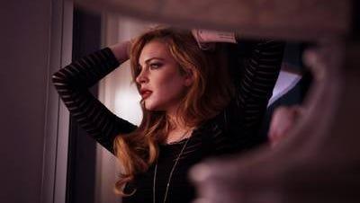 Lindsay poses for a photo shoot on her 'Lohan' docu-series.