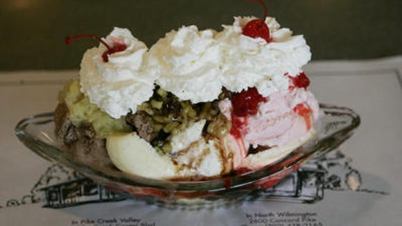 """Mr. President, split a banana split with Joe. Or maybe you can get the famous """"Kitchen Sink"""" dessert?"""