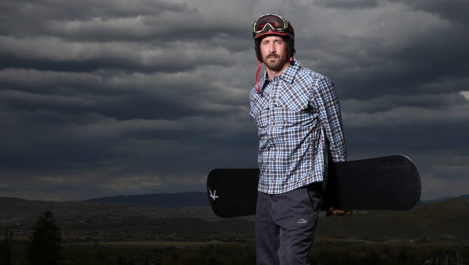 Team USA snowboarder Seth Wescott, shown here during a portrait session at the Team USA Media Summit at Canyons Grand Summit Hotel, expressed concern about the Russian bombings.