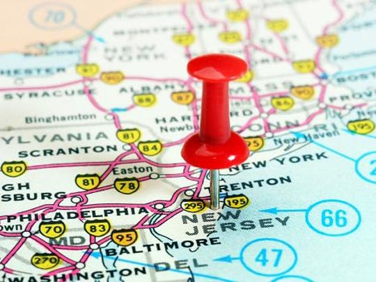New Jersey has a prime location, between New York City and Philadelphia.