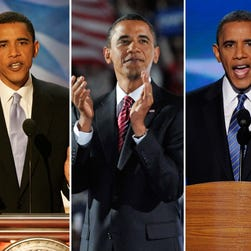 A look back at Obama's convention speeches