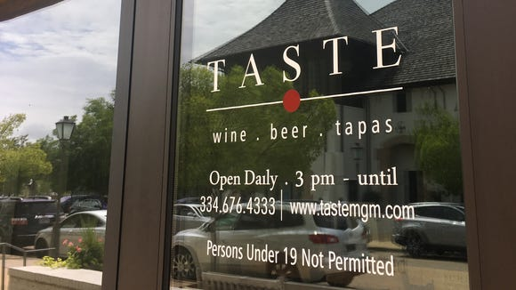 Taste features an extensive wine and craft beer selection as well as tapas dishes.