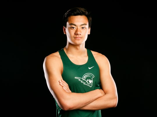West Salem's track and field athlete Micah Masei for the Statesman Journal Sports Awards on Friday, May 5, 2017.